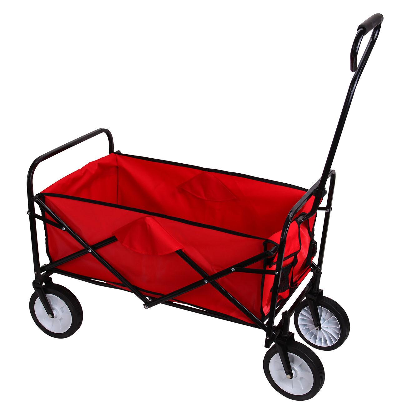 Heavy duty utility garden folding tool cart wagon 4 wheel for Garden tools for 4 wheeler