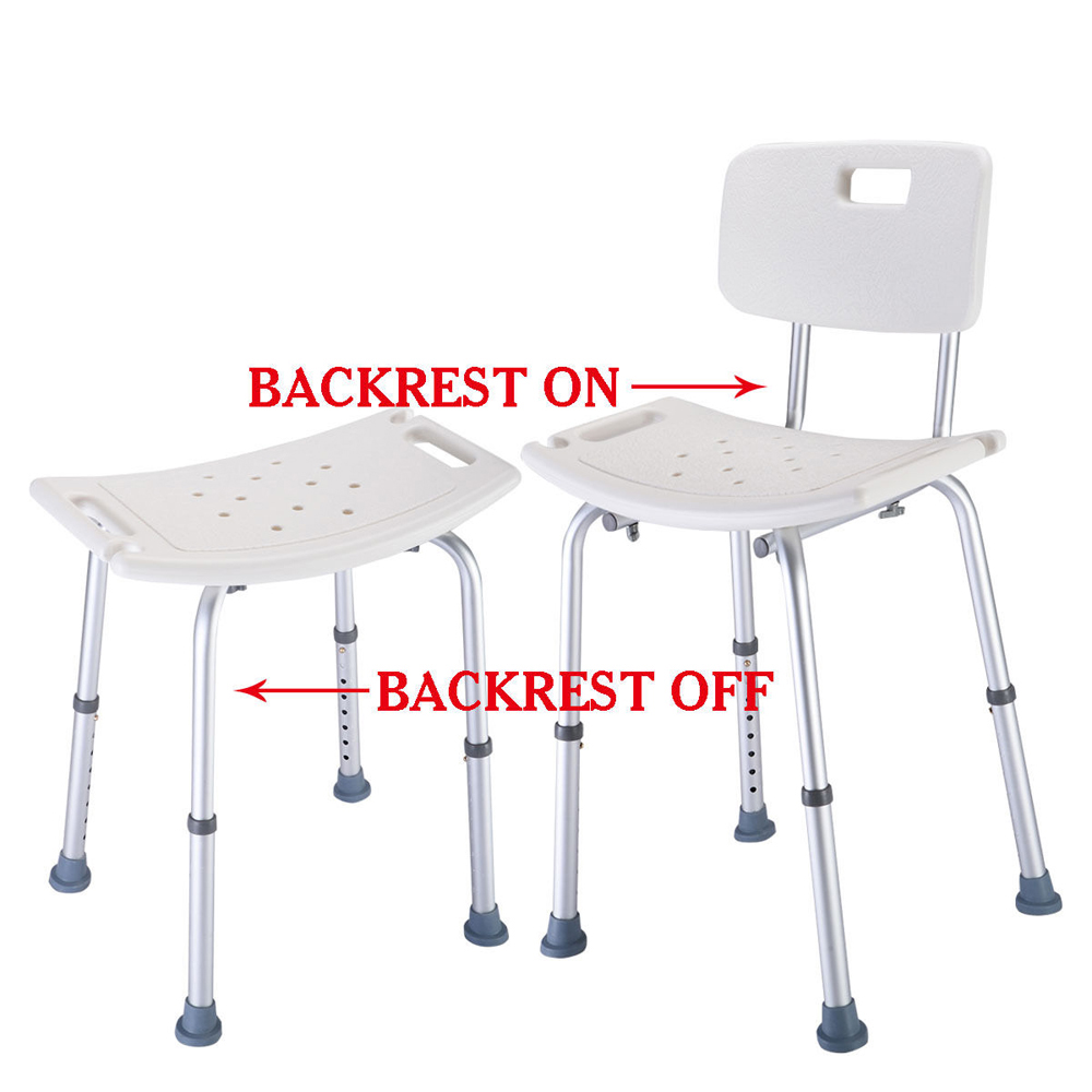 Adjustable Medical Shower Chair Bath Tub Bench Stool Seat