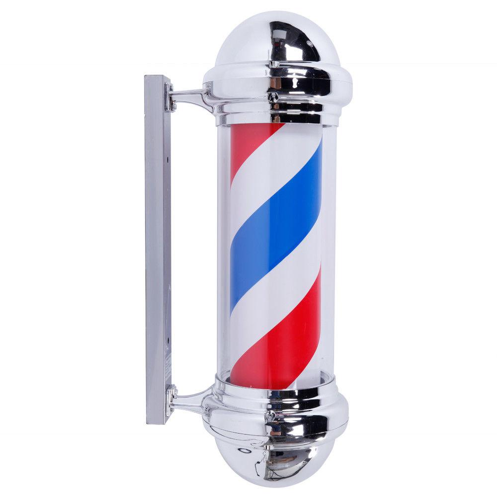 barber pole images  28 Inch LED Barber Pole Light Red White Blue Stripes Rotating Hair ...