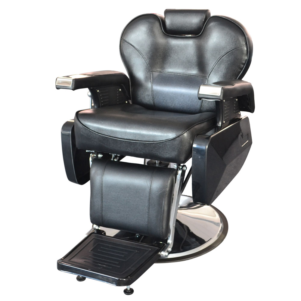 Hair cutting hydraulic reclining heavy duty barber chair for Hydraulic chairs beauty salon