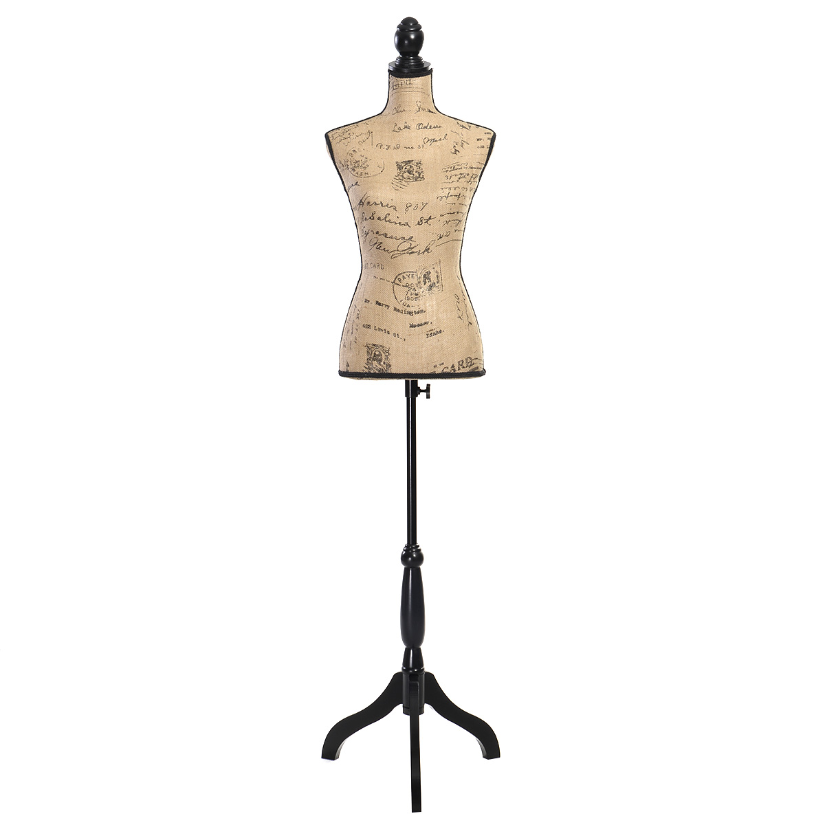 Female mannequin torso dress form display w tripod stand new for Lady mannequin jewelry holder