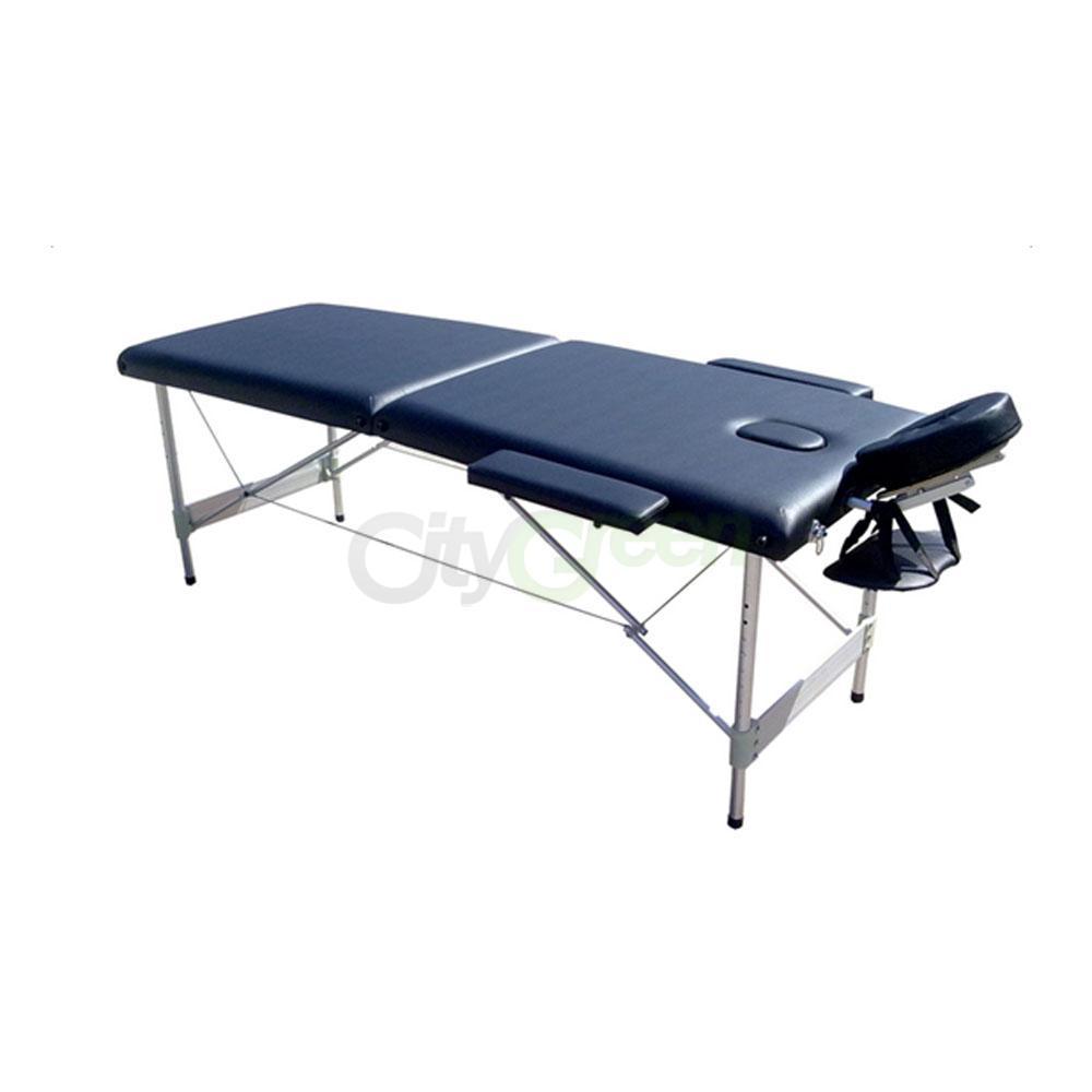 Aluminum 84 l 2 fold portable massage table beauty salon for Beauty salon bed