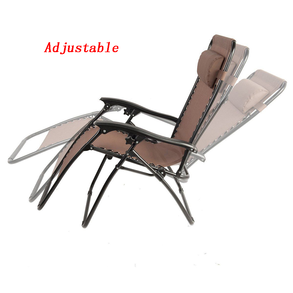 2x zero gravity chair lounge patio folding recliner