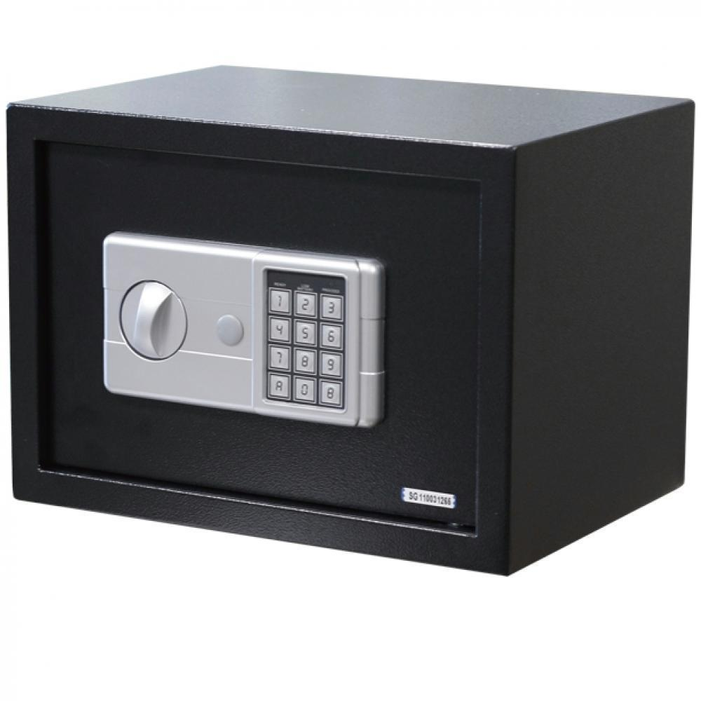 large 15 digital electronic safe box keypad lock security home office 30 black 7459990884610 ebay. Black Bedroom Furniture Sets. Home Design Ideas