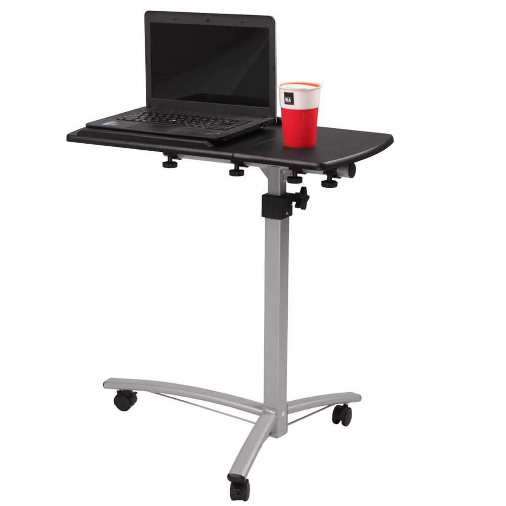 adjustable angle height rolling notebook laptop desk stand over bed sofa table. Black Bedroom Furniture Sets. Home Design Ideas
