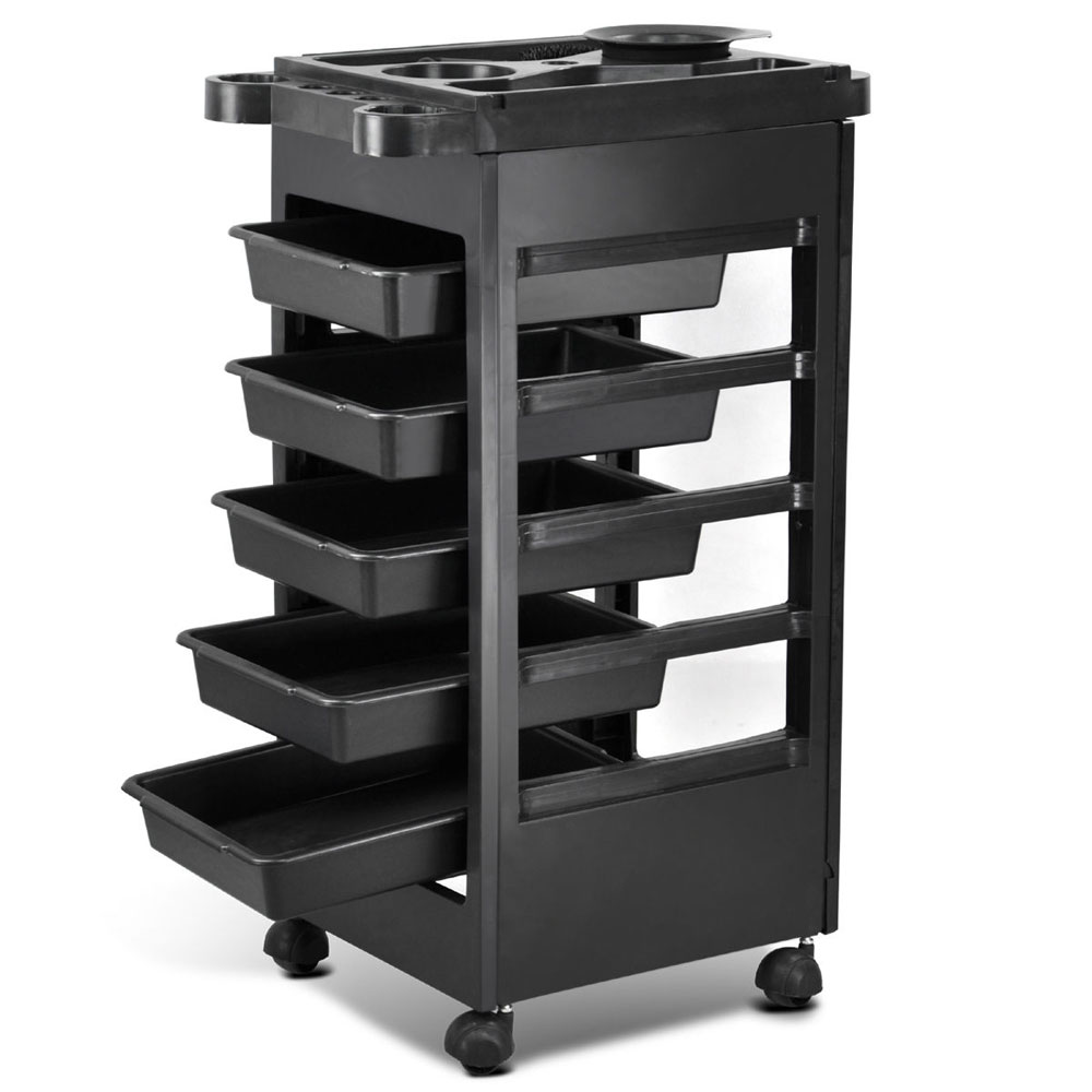 32 plastic hair salon trolley storage tray cart home spa for Salon trolley