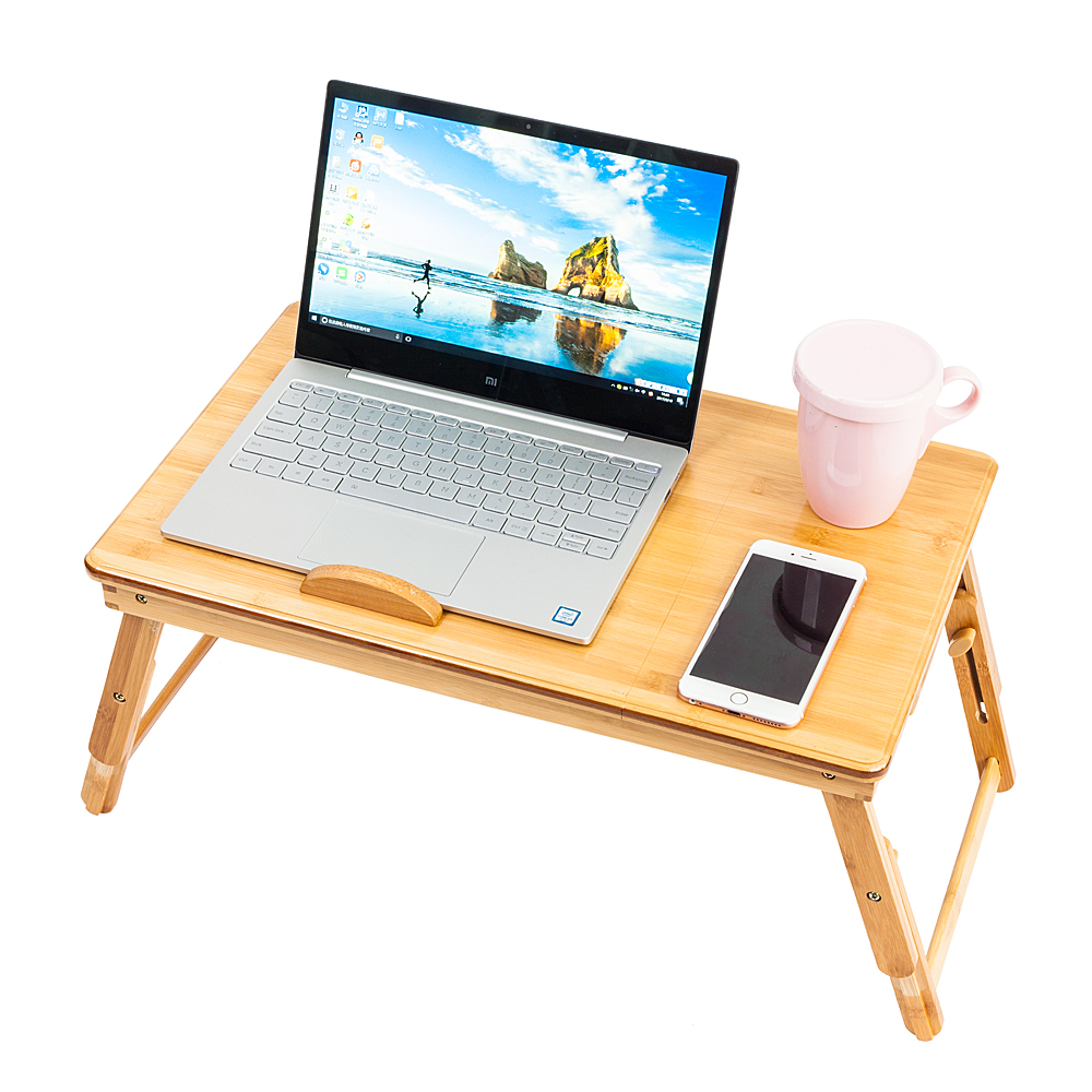 bamboo portable folding laptop computer notebook table bed desk bed tray stand ebay. Black Bedroom Furniture Sets. Home Design Ideas