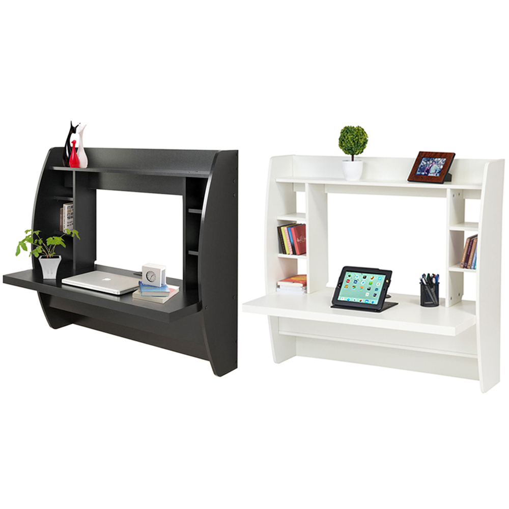 Wall Mount Floating Computer Office Home Desk Storage