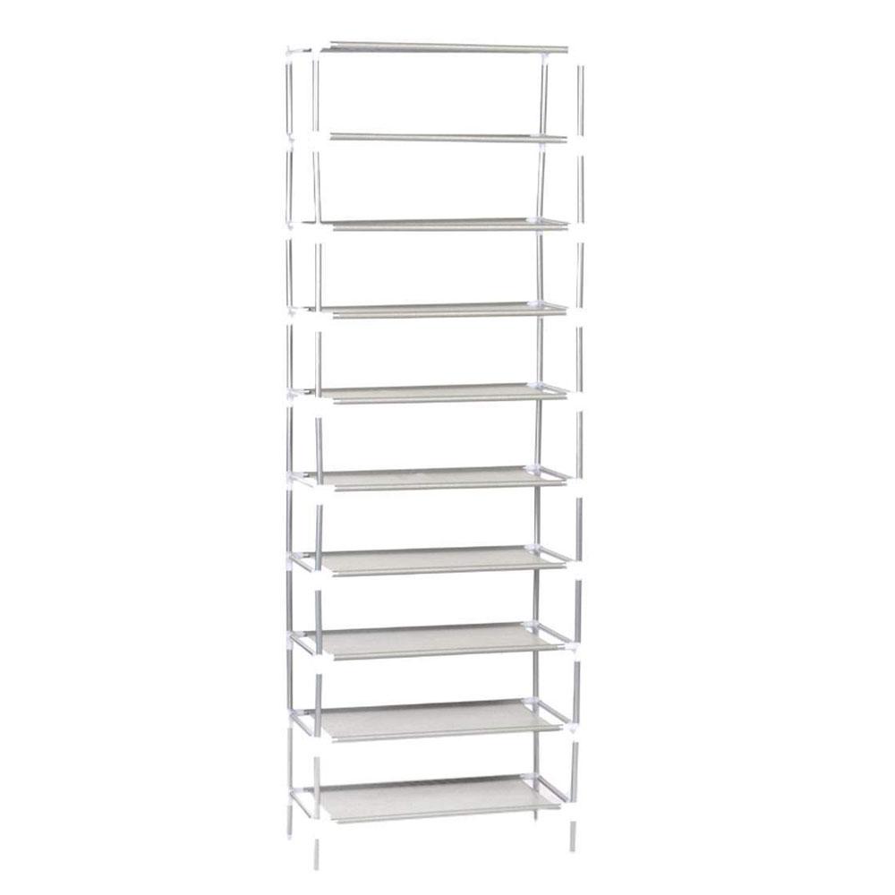 5 10 Tier Shoe Rack Wall Tower Cabinet Storage Organizer
