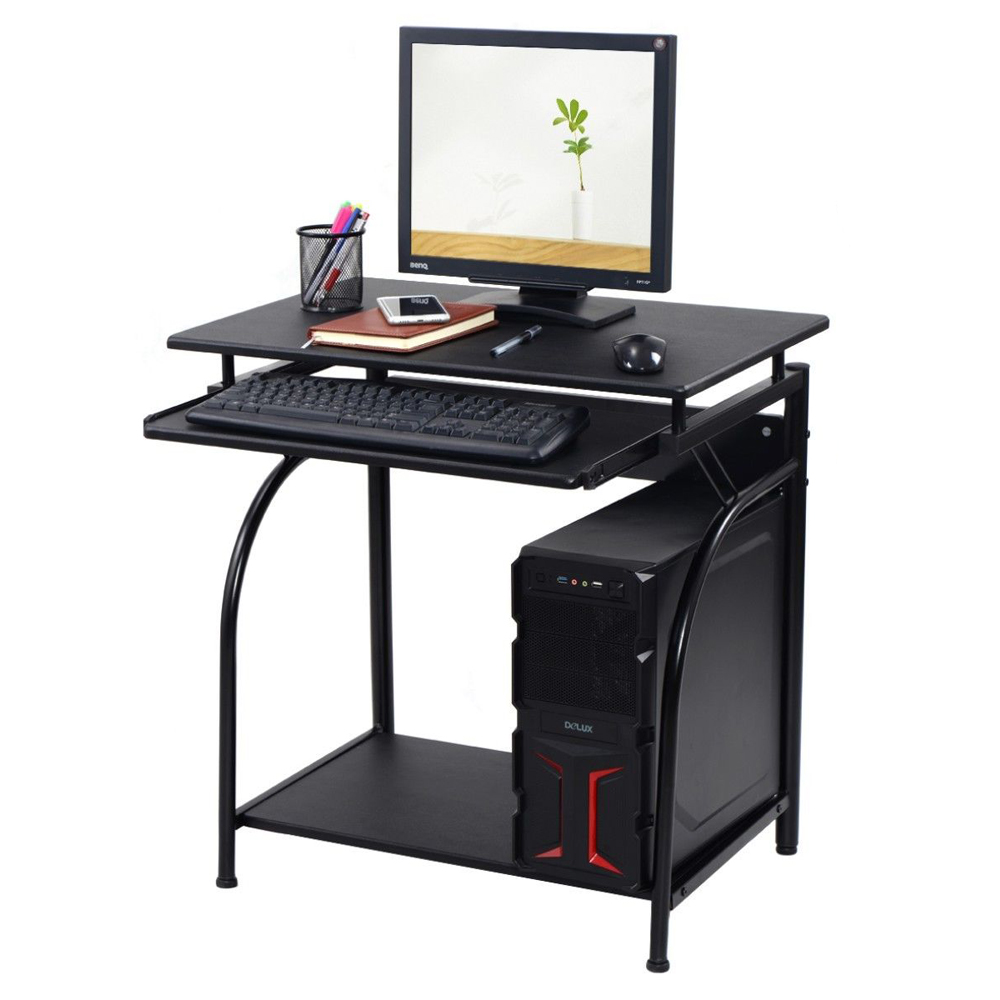 corner computer desk pc laptop small black table spaces. Black Bedroom Furniture Sets. Home Design Ideas