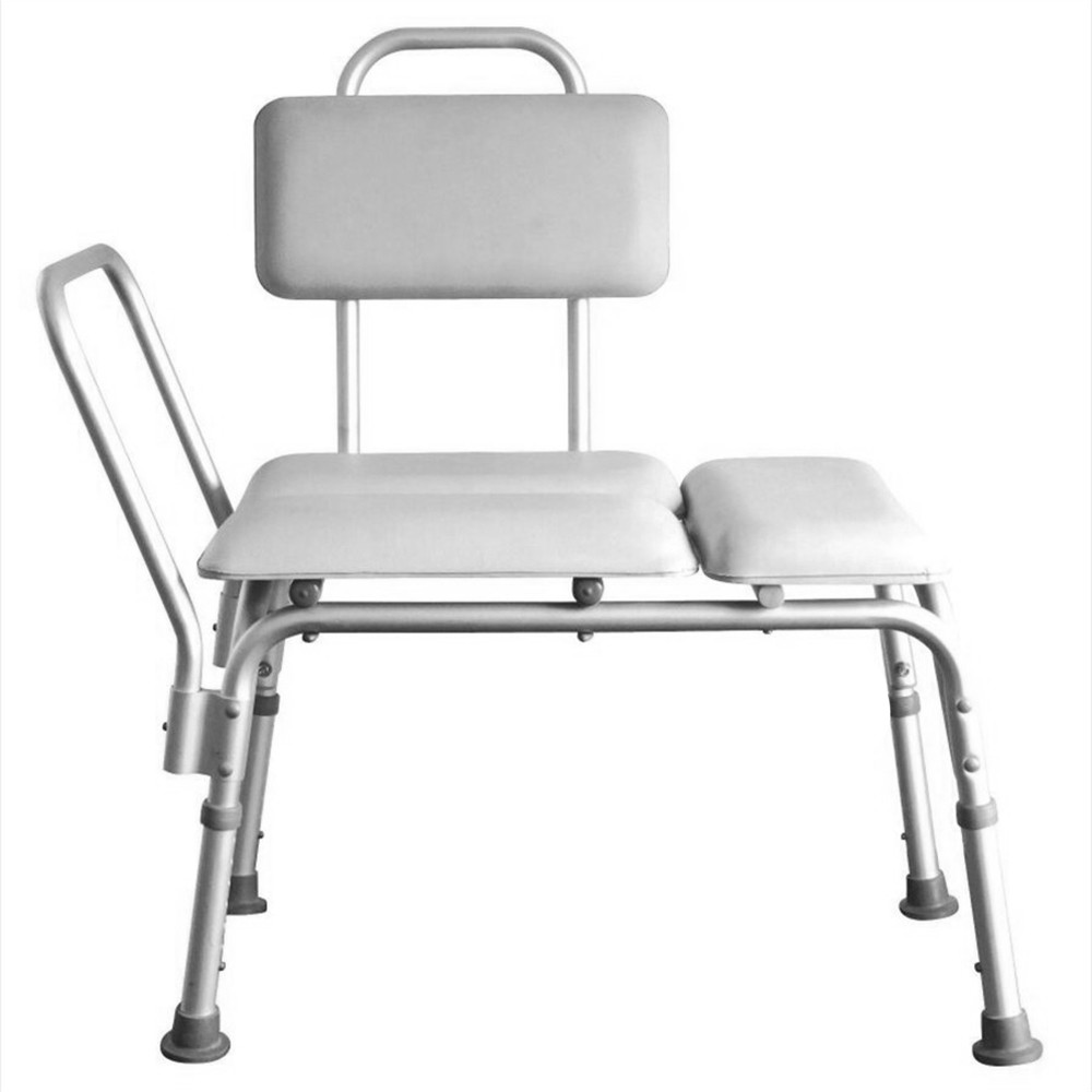 Medical Shower Chair 6 Height Adjustable Bath Tub Bench Stool Seat Back And Arm 602214365885 Ebay