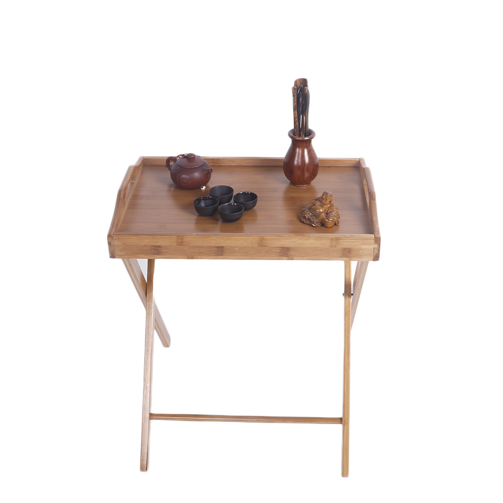 Wooden folding wood tv tray dinner table coffee stand for Useful tv tray coffee table