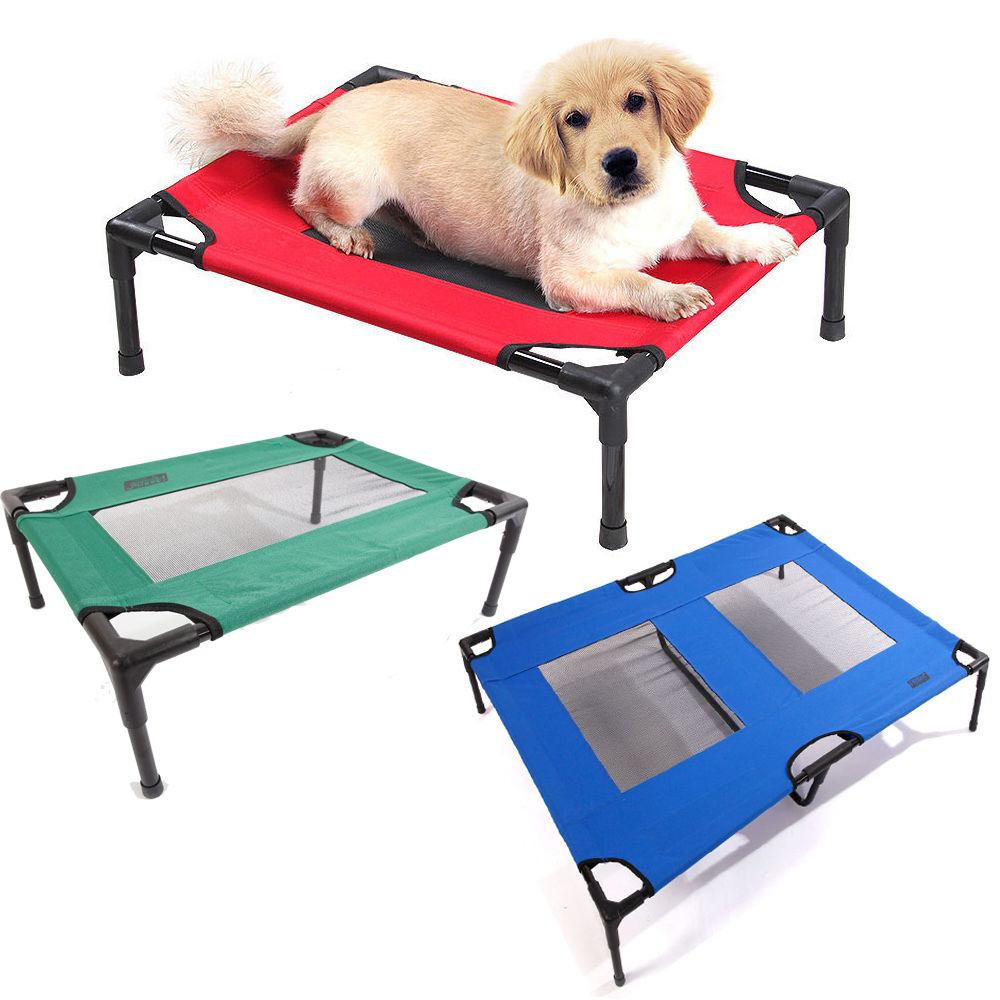 Petcomer Dog Cat Bed Elevated Pet Indoor Outdoor Camping Steel Frame ...
