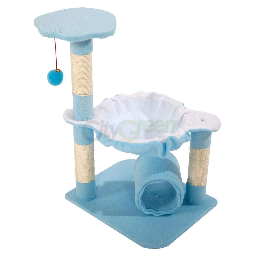 28 pet club cat tree condo house scratcher furniture with for Cat tower with hammock