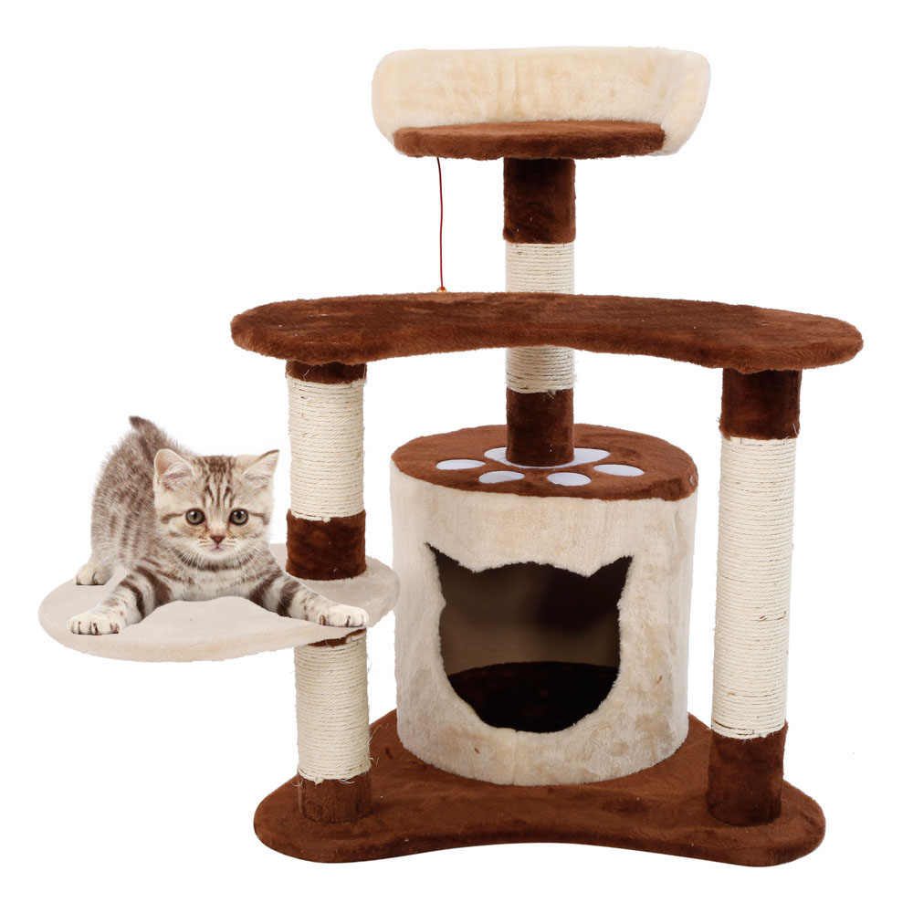 new 29 cat tree tower condo furniture scratching post pet. Black Bedroom Furniture Sets. Home Design Ideas