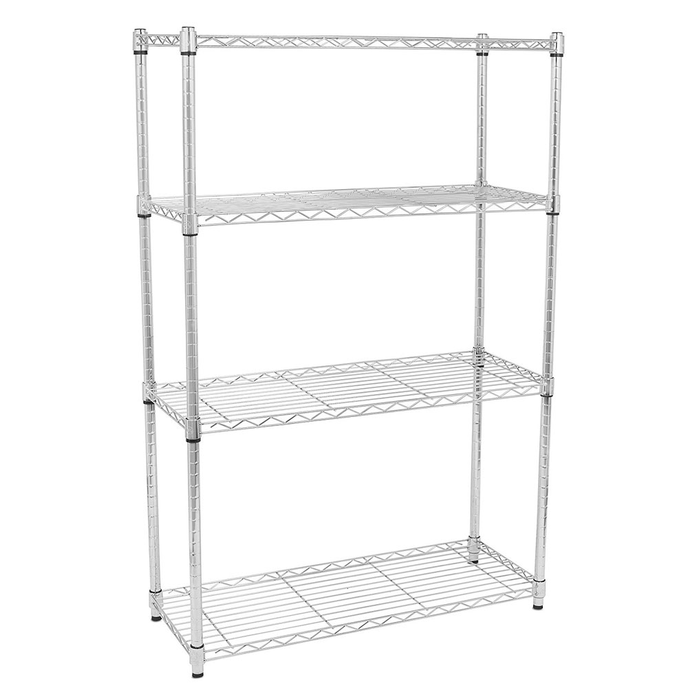 4/5 Tier Storage Rack Organizer Kitchen Shelving Steel