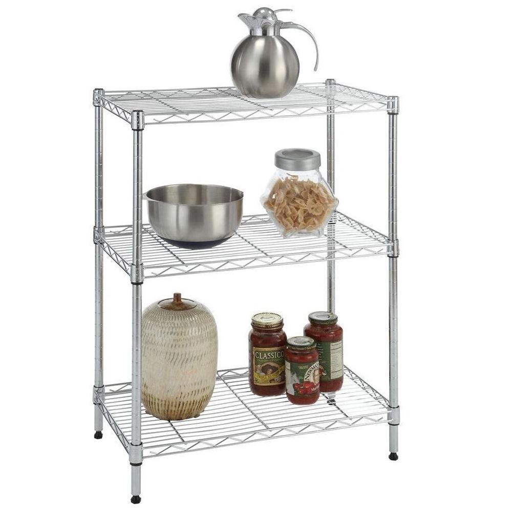 Wire Racks For Kitchen Storage 3 Tier Wire Shelving Rack Shelf Adjustable Unit Garage Kitchen