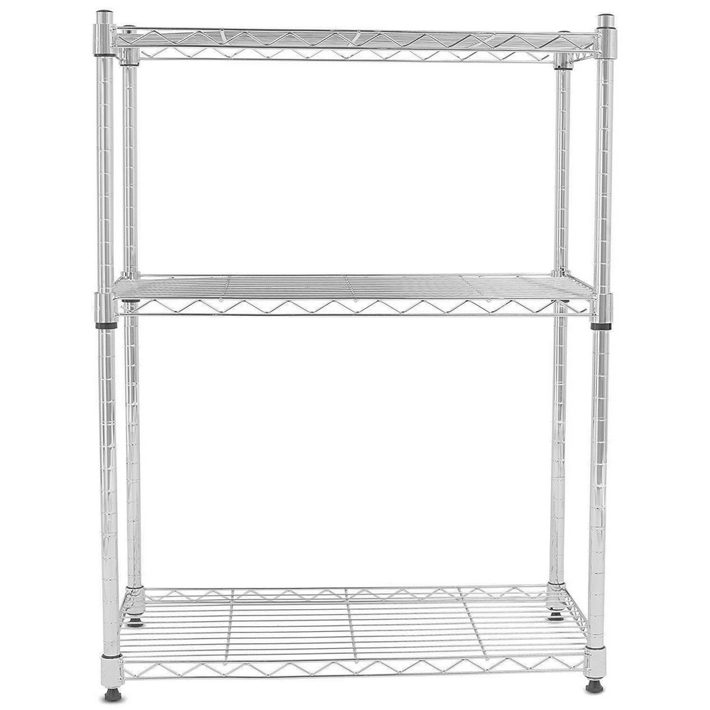 chrome kitchen storage racks 3 tier wire shelving rack shelf adjustable unit garage 5421