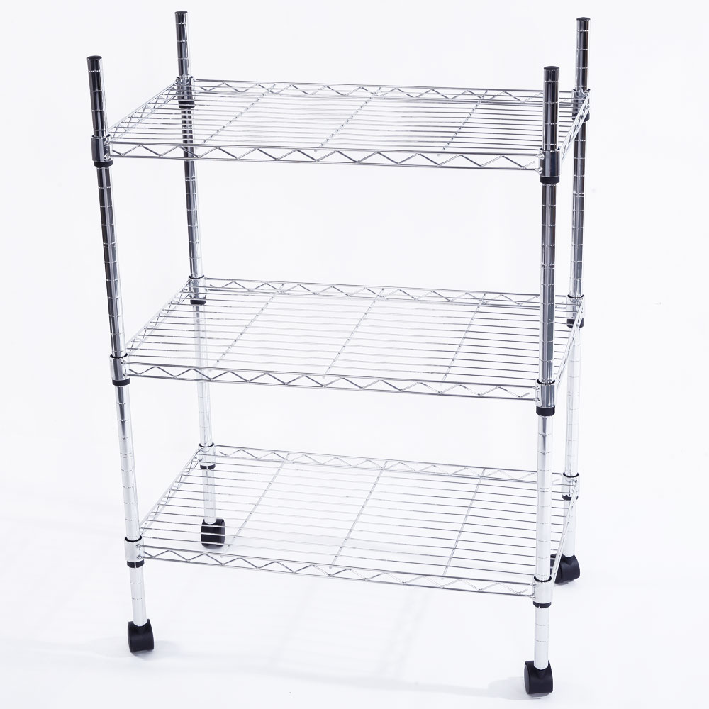 34x24x14 3 tier shelf adjustable wire metal shelving rack. Black Bedroom Furniture Sets. Home Design Ideas