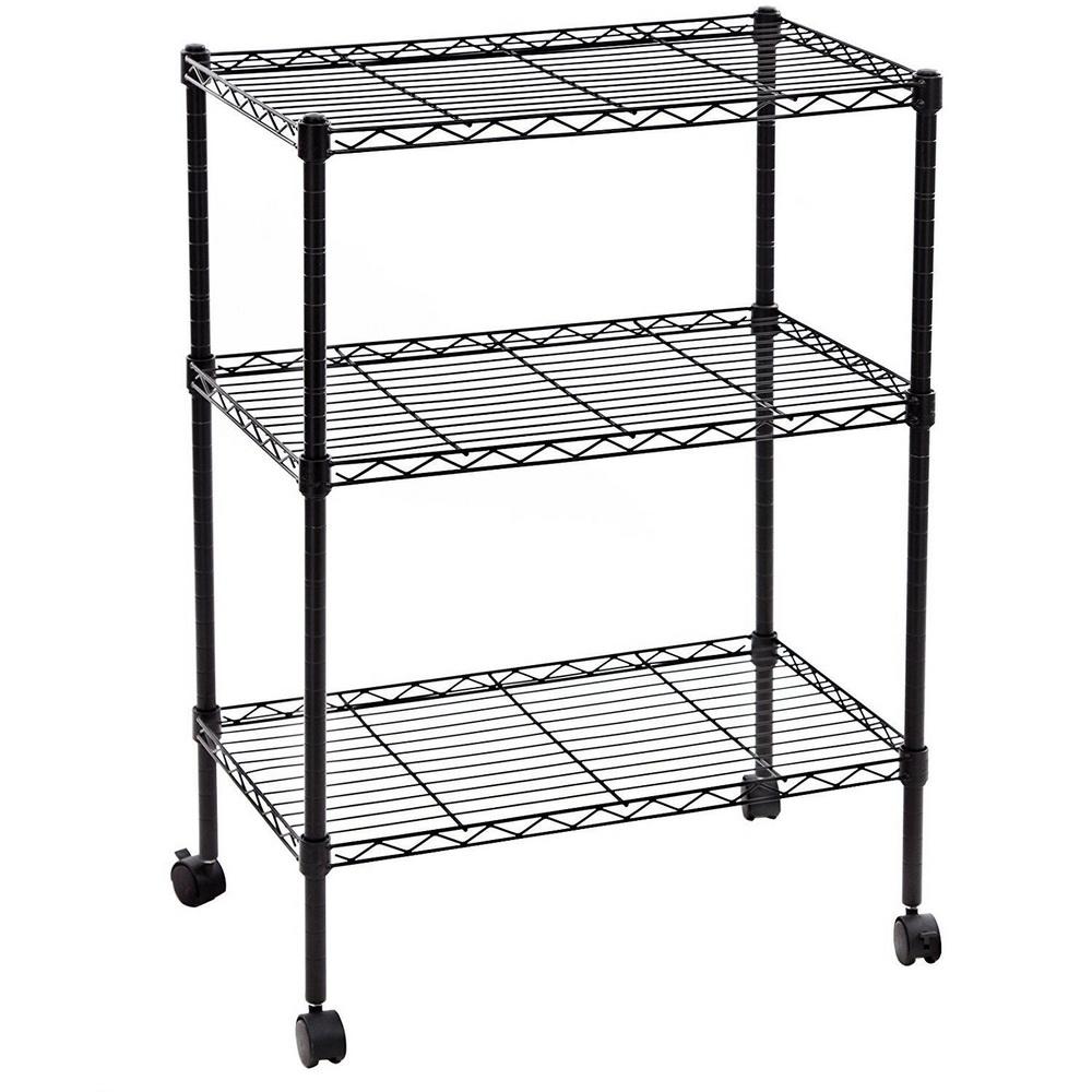34x24x14 3 tier layer shelf adjustable wire metal. Black Bedroom Furniture Sets. Home Design Ideas