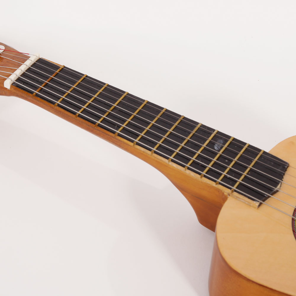 wood 21 6 string beginners practice acoustic guitar musical instruments kids ebay. Black Bedroom Furniture Sets. Home Design Ideas