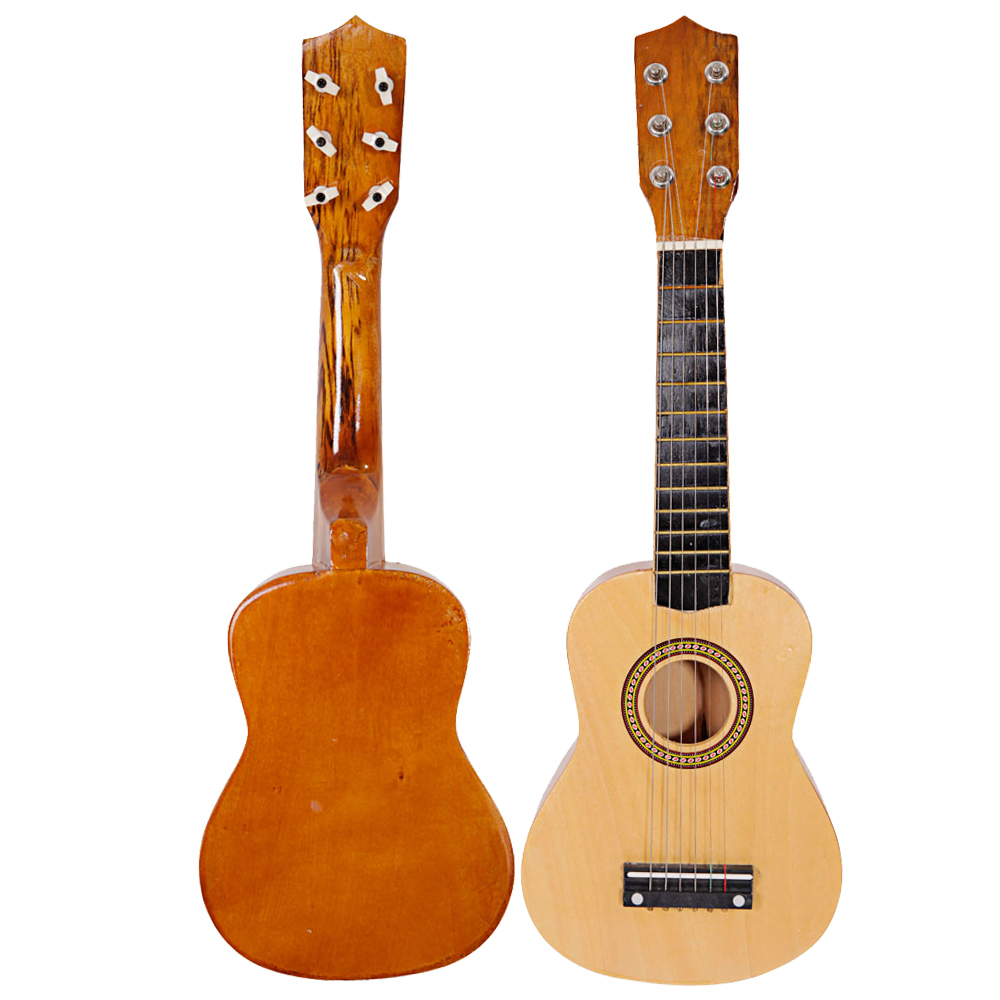 wood 21 6 string beginners practice acoustic guitar musical instruments kids. Black Bedroom Furniture Sets. Home Design Ideas