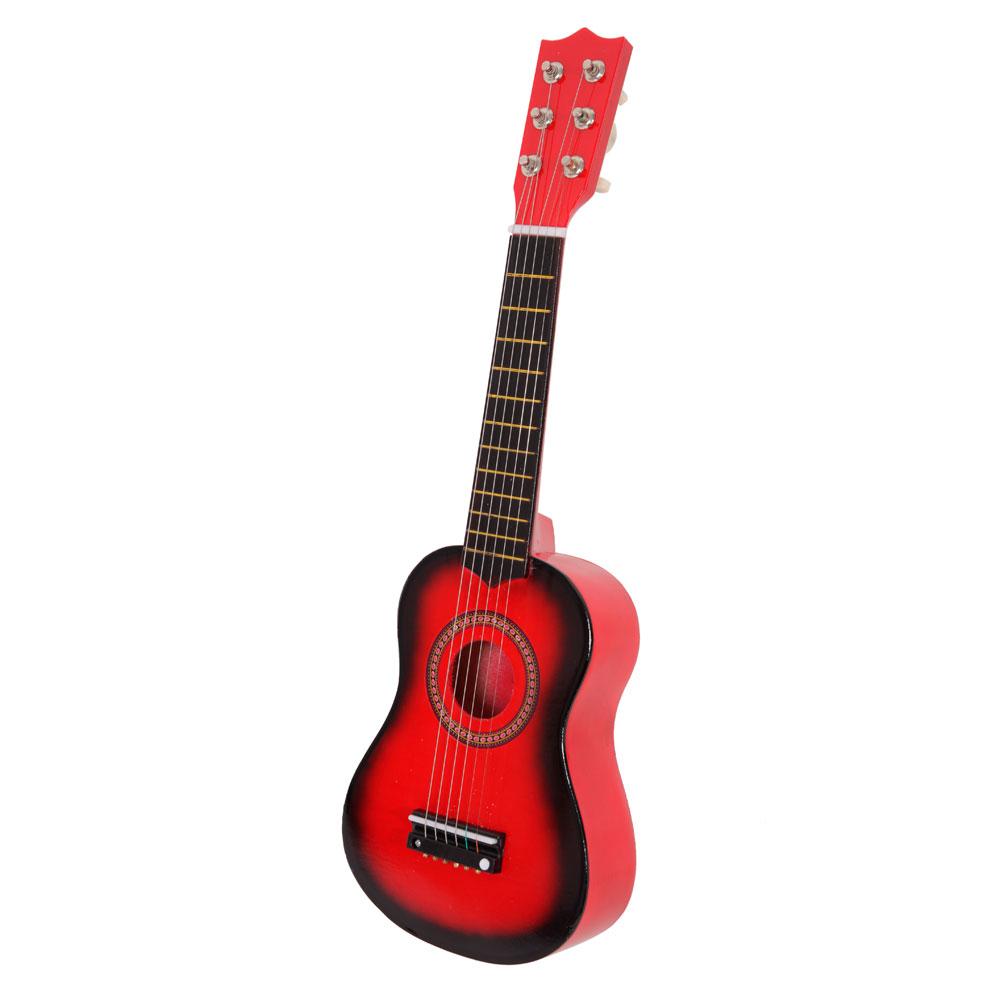 21 6 string beginners practice acoustic guitar musical instruments kids red ebay. Black Bedroom Furniture Sets. Home Design Ideas