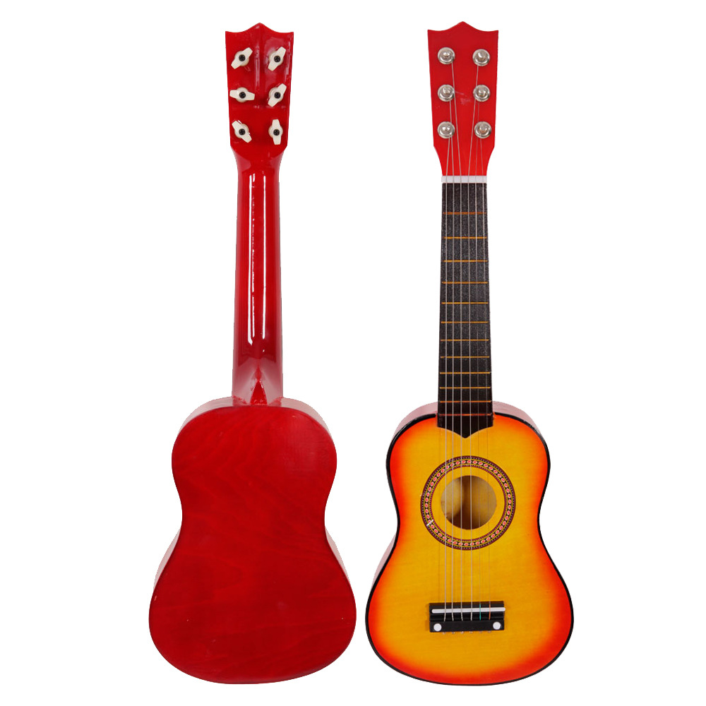 21 children 39 s orange acoustic guitar gift children 6 string kids music toys. Black Bedroom Furniture Sets. Home Design Ideas