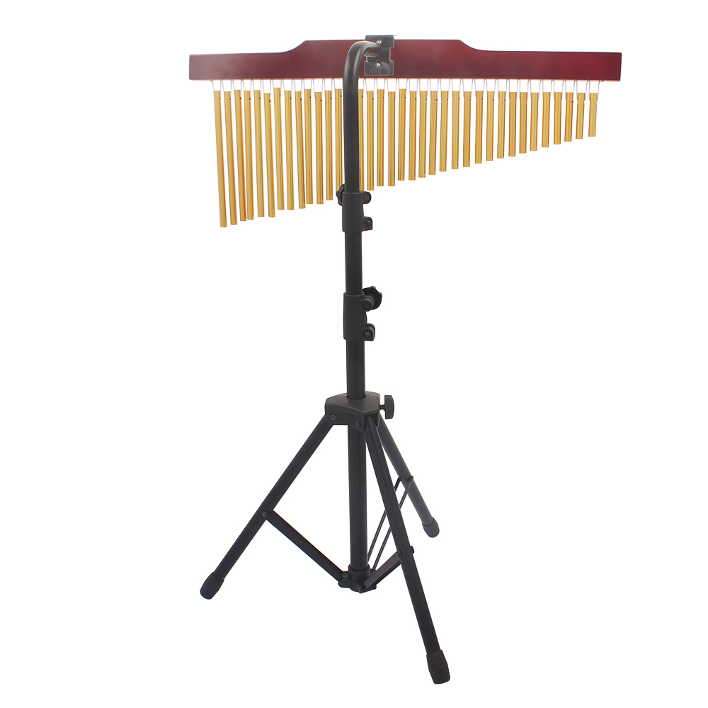 Hanging Bar Chimes 36 Brass Chimes On Wooden Frame With