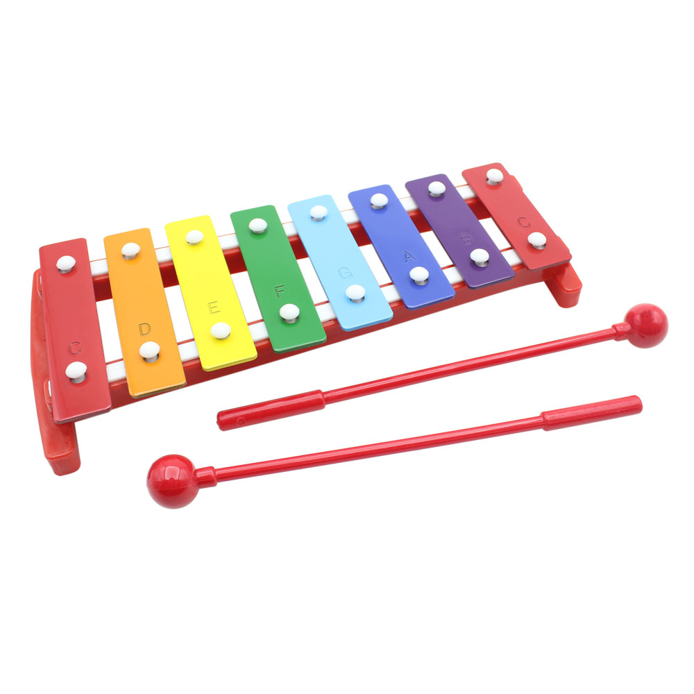 Kids 8 Notes Musical Xylophone Piano Wooden Glockenspiel -4099