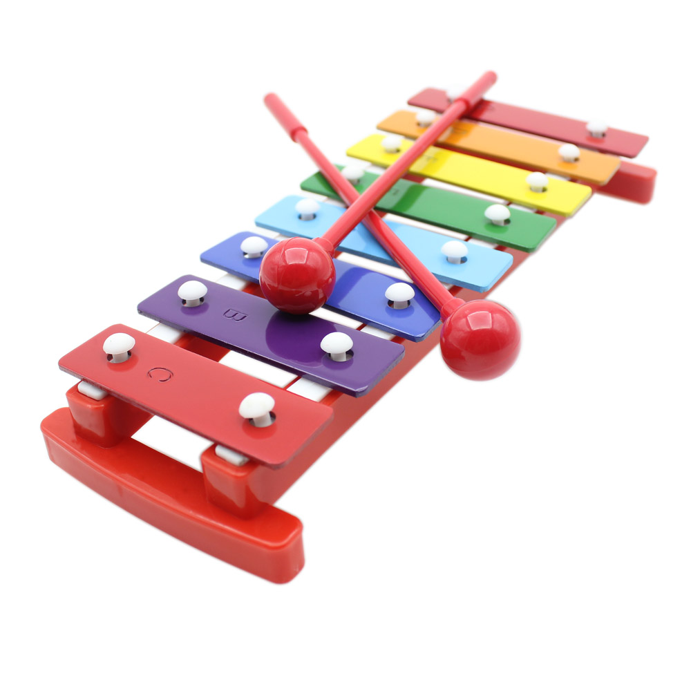 Kids 8 Notes Musical Xylophone Piano Wooden Glockenspiel -1705