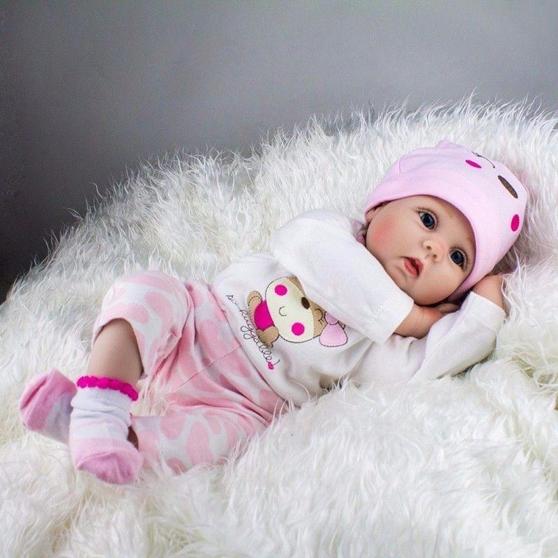 Lifelike Newborn Silicone Vinyl Reborn Gift Baby Dolls