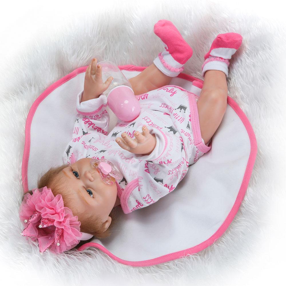 "18"" Reborn Silicone Twin Dolls Boy Girl Vinyl Baby Sleep ..."