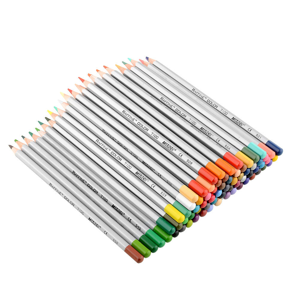 New Marco 48 Color Art Drawing Oil Base Nontoxic Pencils Set For – Colored Writing Paper