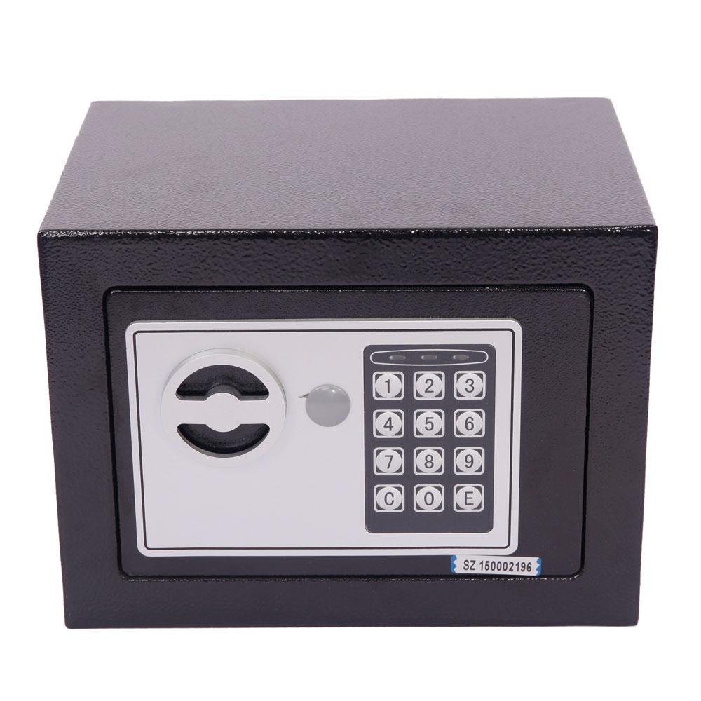 stark digital electronic safe box keypad lock home office hotel gun steel black ebay. Black Bedroom Furniture Sets. Home Design Ideas