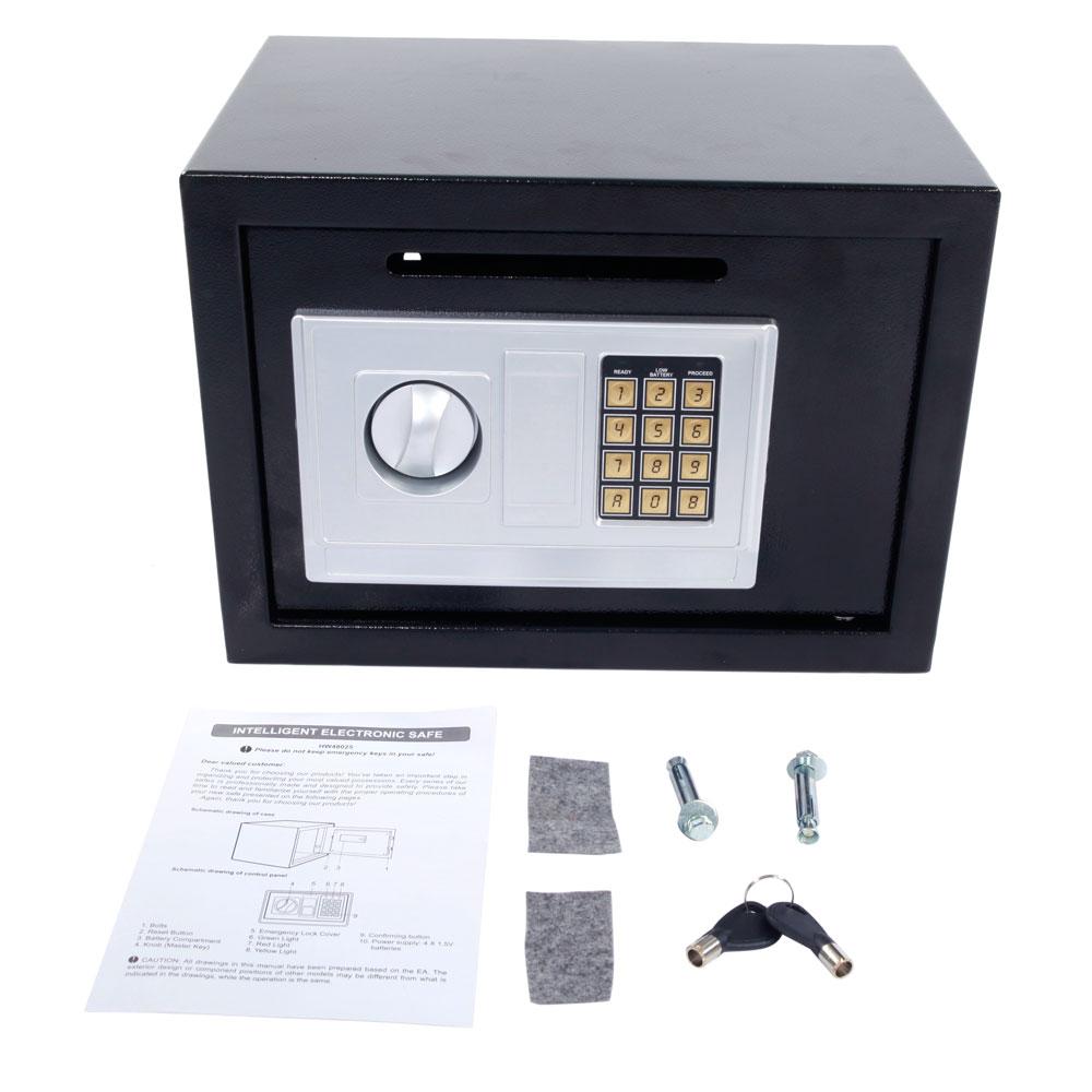 High Quality Digital Depository Drop Cash Safe Box Jewelry Home Lock Intelligent Electronic Black Us