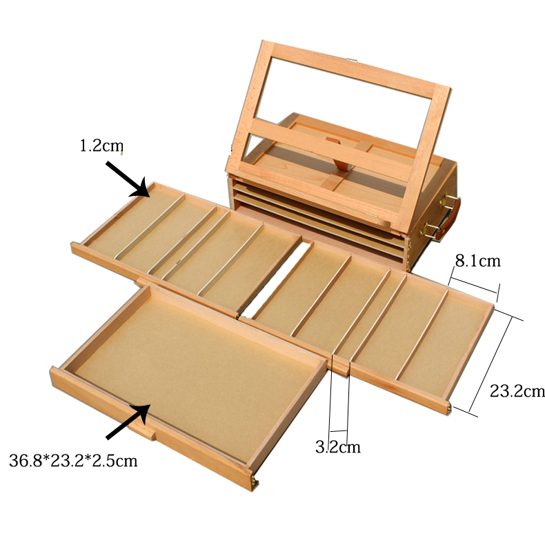 easel is quite a must have for painting how about trying our xhh3 portable 3 layers drawer 4 adjustable gears beech tabletop easel - Tabletop Easel