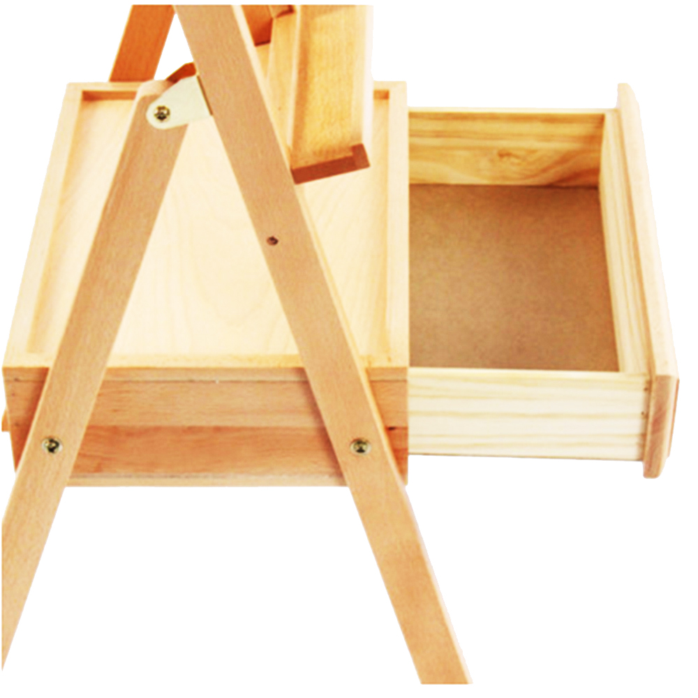 Table top drawing easel - Heavy Duty Portable Art Kids Wood Paintbox Table Top H Frame Easel Drawer School