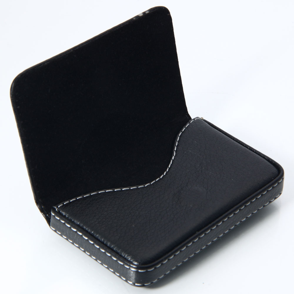 New black pocket pu leather business id credit card holder for Black business card holder