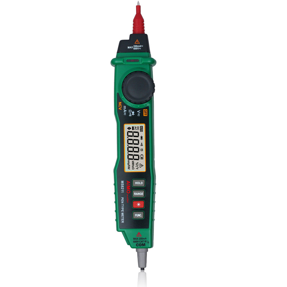 Non Contact Voltage Tester : Ms counts non contact digital multimeter ac dc