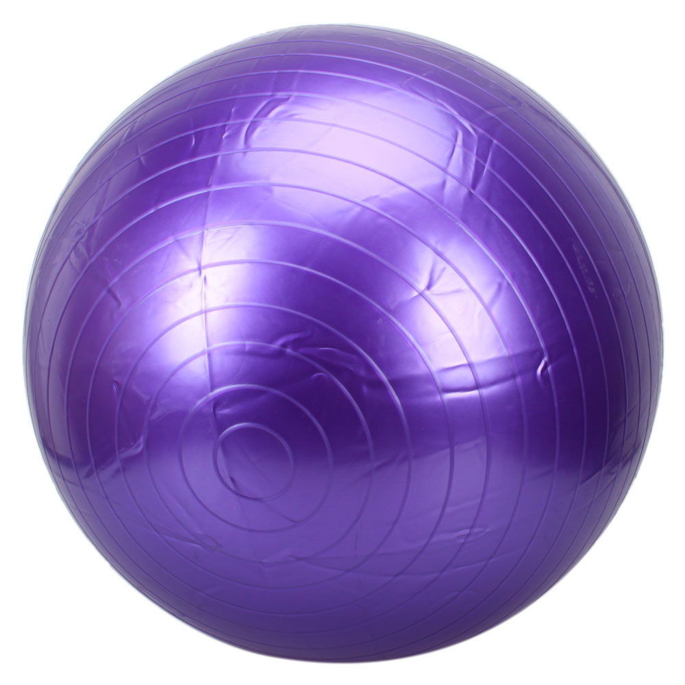 Fitness Exercise Stability Ball Purple 55cm Yoga Pilates Anti Burst w/ Pump | eBay