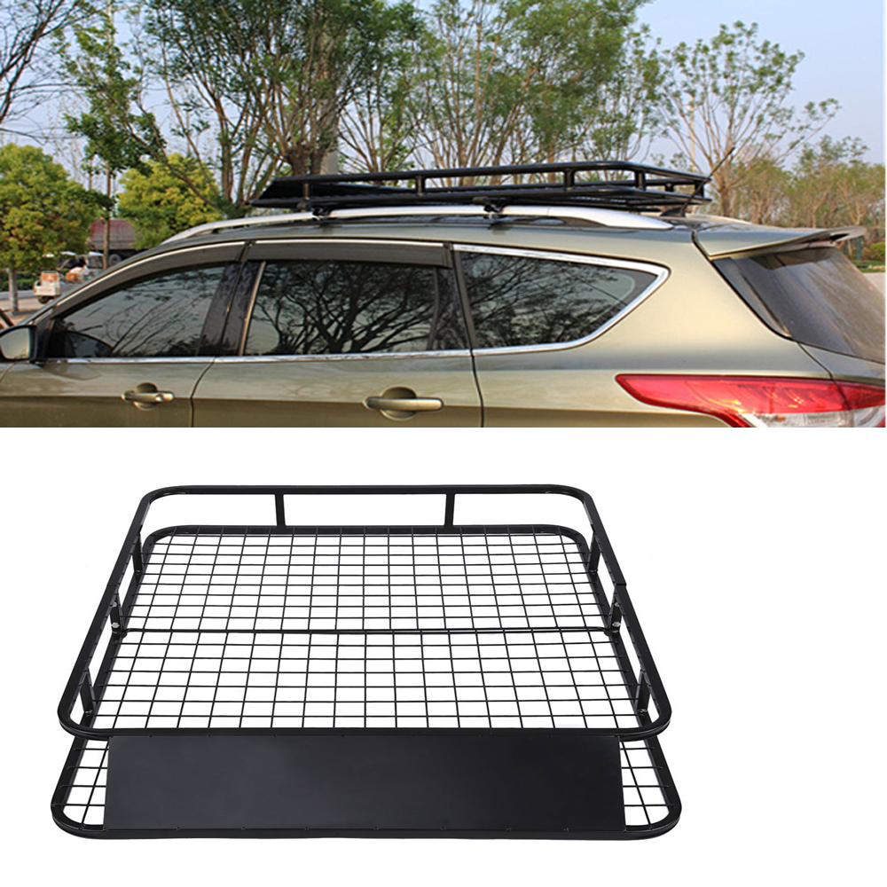 Cargo Box For Suv >> Details About Automotive Universal Cargo Carrier Roof Rack Travel Suv Luggage Carrier Basket