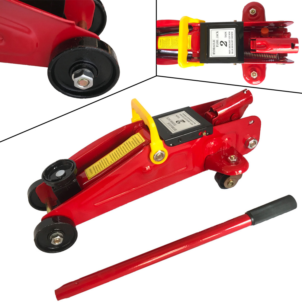 Automotive Lifts And Jacks : Ton low profile hydraulic floor jack work shop stand