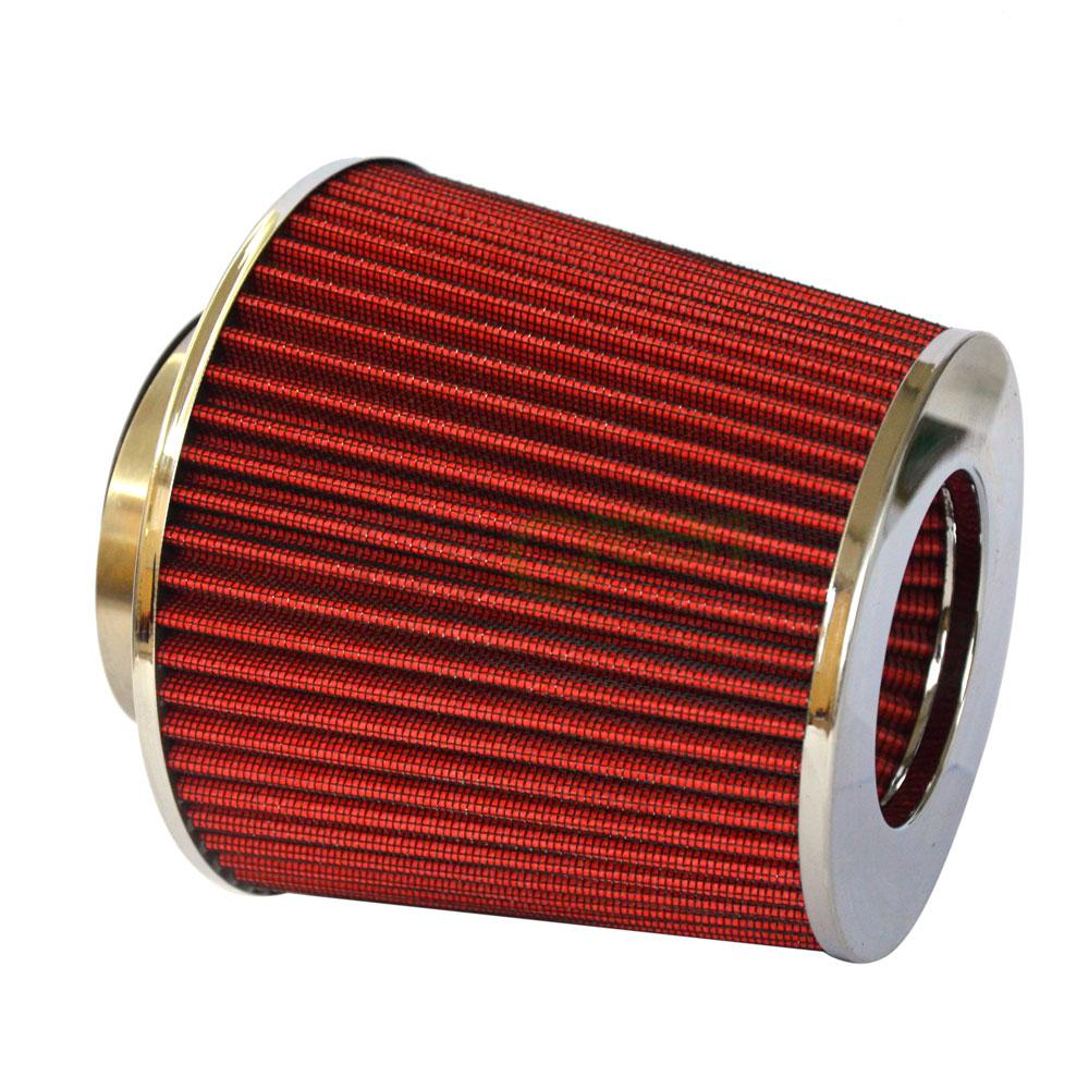 """RED UNIVERSAL 3/"""" 76mm SMALL AIR FILTER FOR DODGE//JEEP SHORT//COLD AIR INTAKE"""