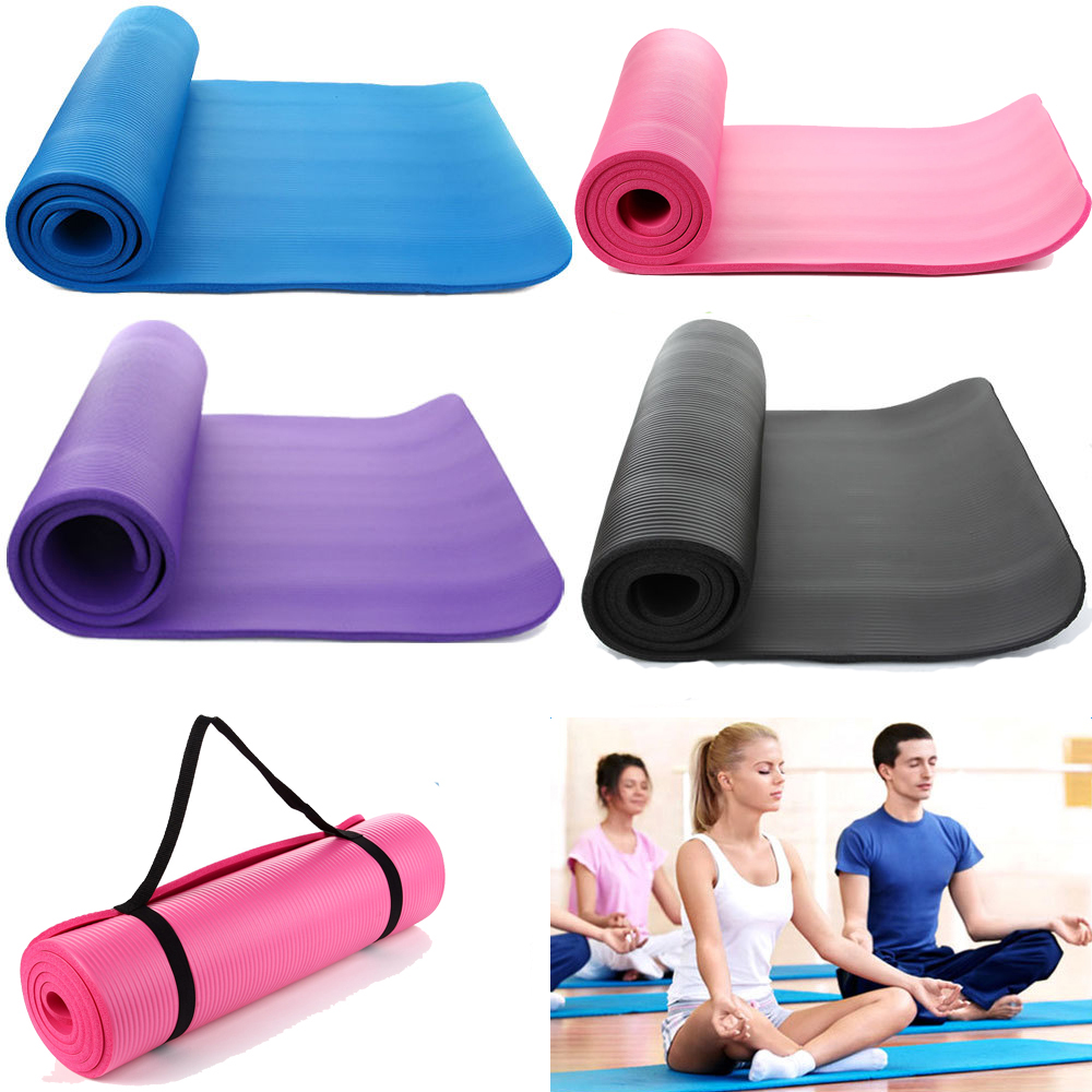 goods sporting mat mats yoga inch blue thick shop crown extra