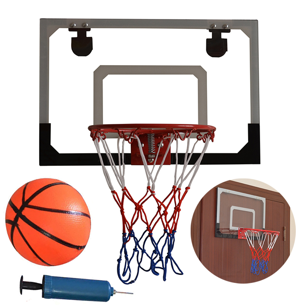 Indoor Mini Basketball Hoop Backboard System Home Office Room Door w ...