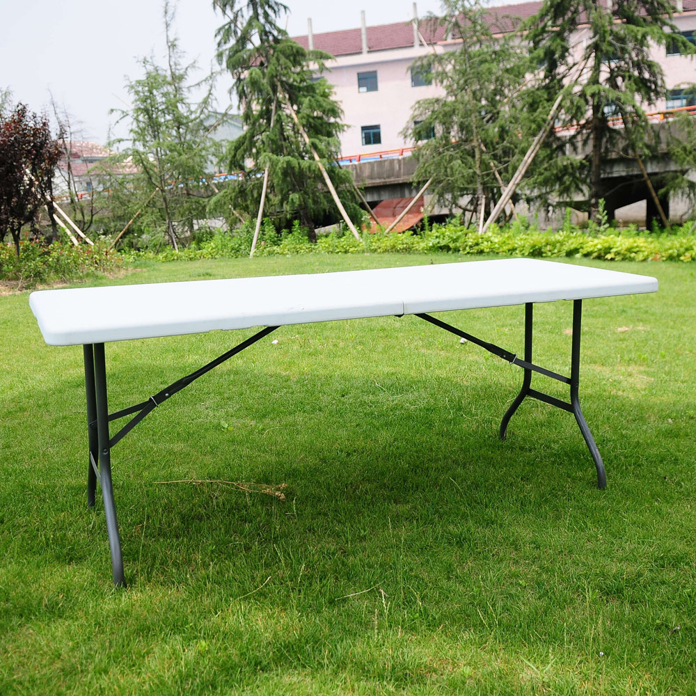 6 FT Portable Folding Table Outdoor Picnic Plastic Camping Dining ...