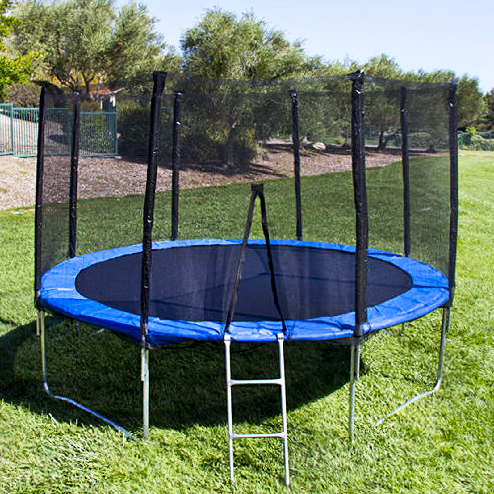 12 ft trampoline with enclosure and net w spring outdoor jump