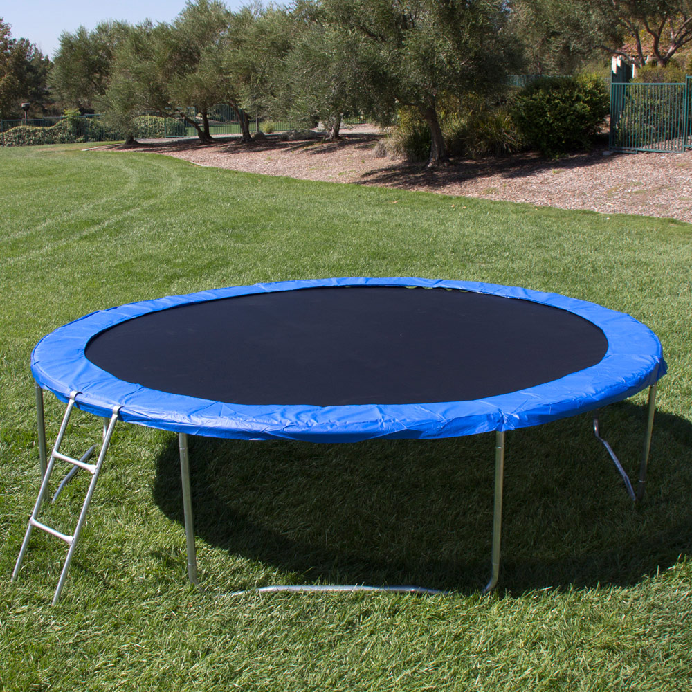 Trampoline Safety Pad Heavy Duty Waterproof 10ft 12ft 14ft: 12 Ft Trampoline With Enclosure And Net W/Spring Outdoor