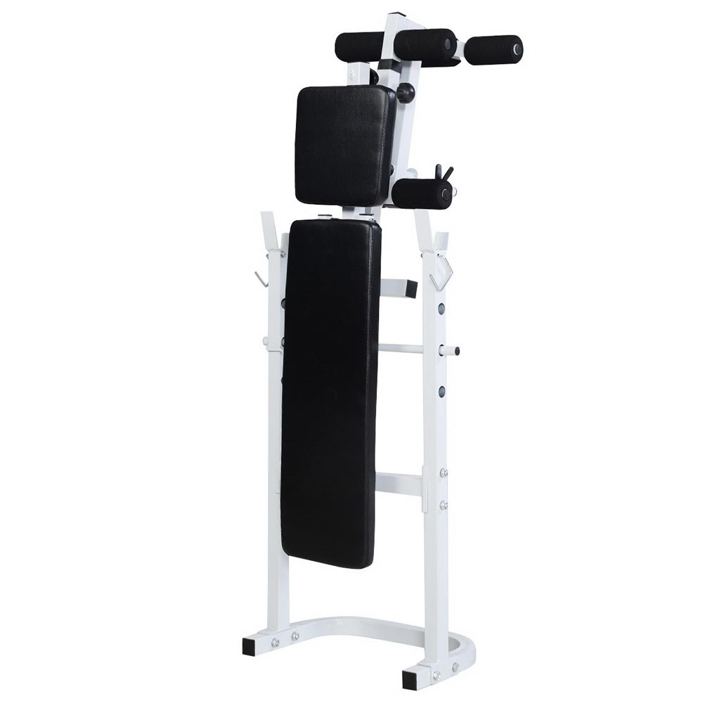 Home Gym Bench Set: Weight Bench Set Press Fitness Home Gym Workout Strength